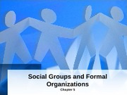 Intro to Sociology Chapters 5  6 Groups