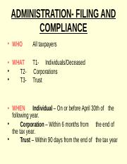 ADMINISTRATION- FILING AND COMPLIANCE(1).ppt