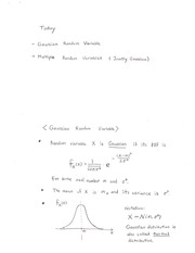 Lecture Notes Gaussian and jointly gaussian