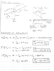 Example Test Problem with Answer & Physics Cheat Sheet