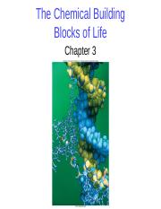 BIO 1510  F2016 Lecture 3 - The Chemical Building Blocks of Life.pptx
