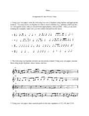 Time Signature and Values Assignment
