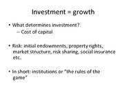 Lecture 6 - investment
