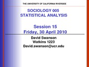 UCR SOC 005 STAT SPR 2010 Session  15  V2