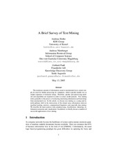 2005 - Hotho - Nurnberger - A Bried Survey of Text Mining
