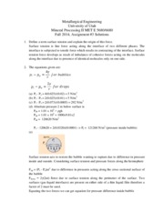 Assignment 3 - 2014 Solutions