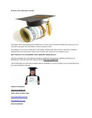 Finance Your Education In USA.doc