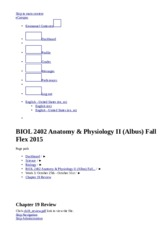 BIOL 2402 Anatomy & Physiology II (Albus) Fall Flex 2015_ Chapter 19 Review