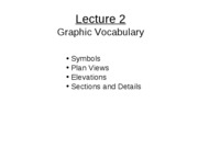 Lecture 2 - Graphic Vocabulary