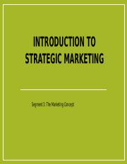 Strategic Marketing segment 3