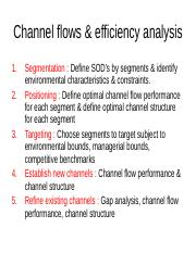 4.Channel flows & efficiency analysis