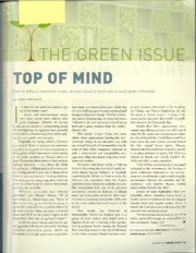 10. Sustainability - The Green Issue