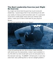The Best Leadership Exercise Just Might Be Exercise.docx