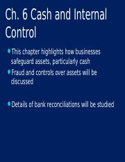 Ch 6-Cash and Internal Control.ppt