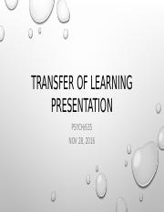 Transfer of learning presentation.pptx