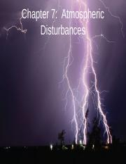 Chap 7 Atmospheric disturbances