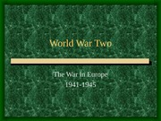 World War Two Europe