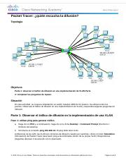 3.1.1.5 Packet Tracer - Who Hears the Broadcast Instructions