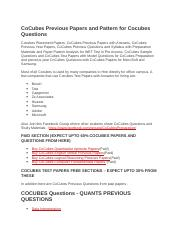 CoCubes Previous Papers and Pattern for Cocubes Questions.docx