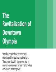 The Revitalization of Downtown Olympia - Sari Sneden