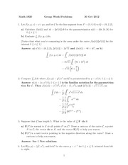 MATH 1910 Fall 2012 Tutorial 6 Solutions