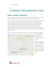 Kaiser Permanente Business Case .docx