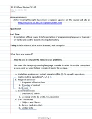12-03 Class Notes CS 107