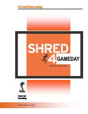 Shred4GameDay
