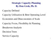LECT NOTES (Strategic Capacity Planning)