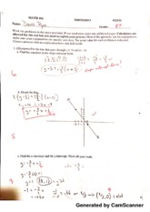 Math for Decision Making with Tech Midterm 1 Graded