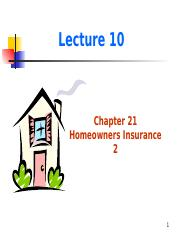 Lecture 10-Homeowners 2.pptx