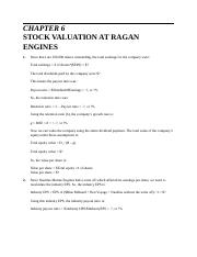 Chapter 6 Case stock Valuation at Ragan Engines Proforma.docx