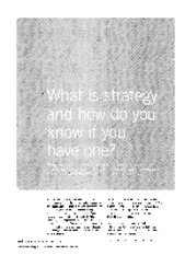 RM-1 What is Strategy and how do you Know if You have one.pdf