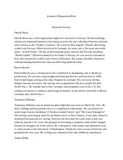 Lesson 6 Discussion Post.docx