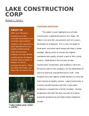 Leadership Style Interview for Company Newsletter.docx
