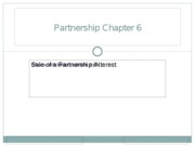 Partnerships Chapter 6