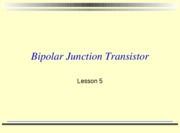 lesson 5 2009 bipolar junction transistors with activities-1