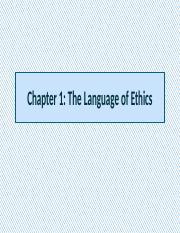 ethics ch1 essay