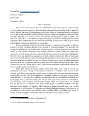 integrative essay emmabeauchamp historysection 4 pages racism essay
