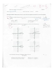 Quiz 3 on Graphing functions