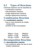 6.2+Types+of+Reactions