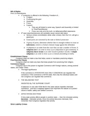 Bill of Rights- STUDY GUIDE