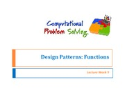 Lec 09 Design Patterns - Functions