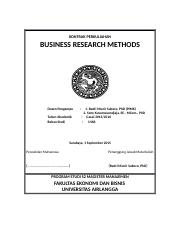 Kontrak Perkuliahan BUSINESS RESEARCH METHODS S2 MM   2015.docx