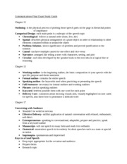 Communications Final Exam Study Guide Part One