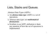 List, Stack and Queue