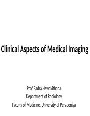 Clinical Aspects of Medical Imaging BME lecture