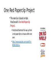 One Red Paperclip Project Instructions to post-1