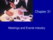 Chapter 31 Meetings & Events Industry