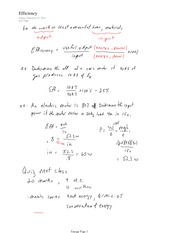 PHYS 12 Efficiency Notes